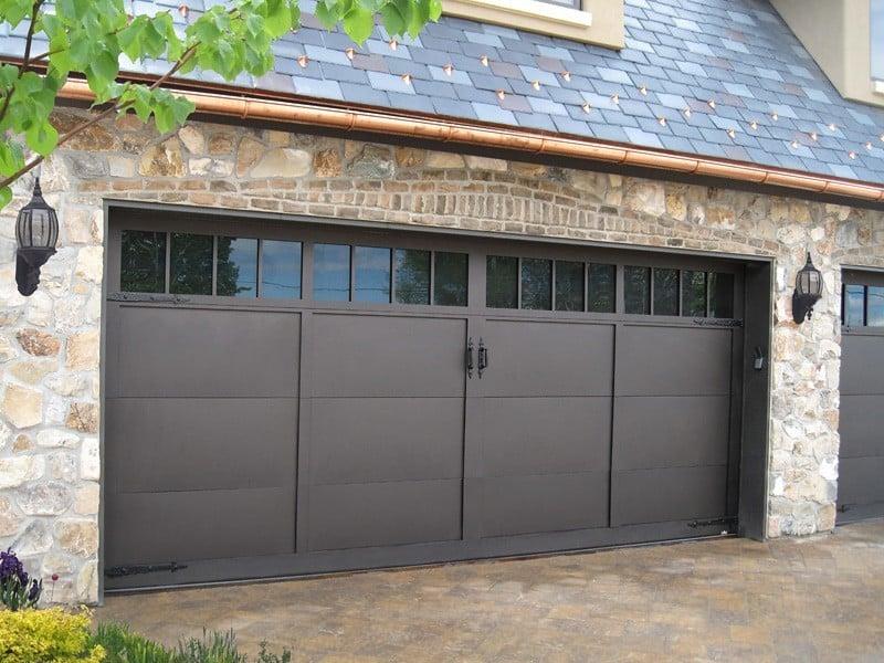 garage door with lightbox
