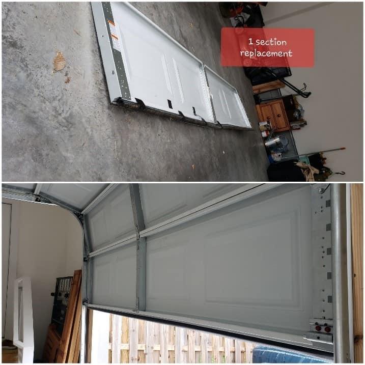 garage door section replacement