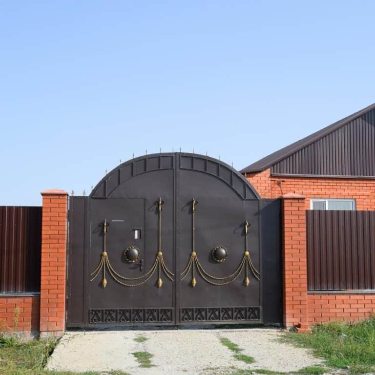 black electric gate